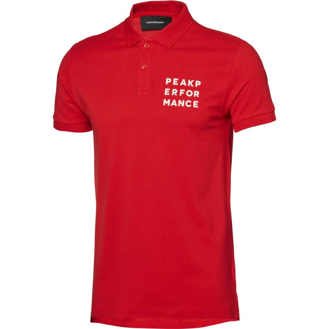 Peak Performance M Ground Polo 1 pikétröja Vibrant Red Köp online hos Intersport