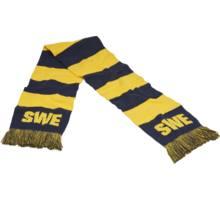 Sweden supporter halsduk randig