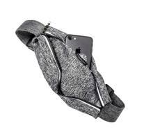 Running Belt with Window - Heather Gray /Black&Gray Zip