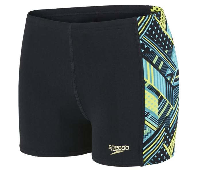 01652b90895 Speedo Allover Panel Aqua badbyxor - BLACK/BLUE - Intersport