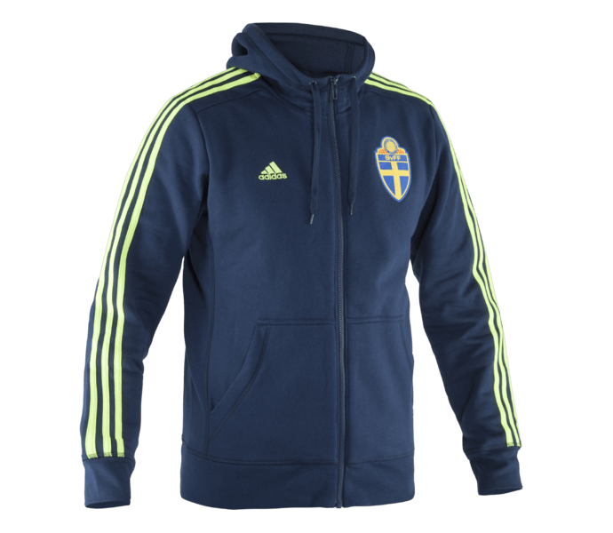 Adidas SvFF ZIP huvtröja CONAVY/SYELLO