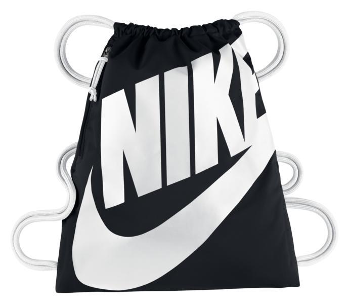 Nike Heritage gympapåse - BLACK WHITE WHITE - Intersport 6ee36d4cb3190