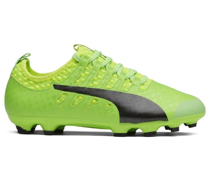 adf11771 Puma evoPOWER Vigor 1 AG JR fotbollssko Green Gecko-Puma Black-Safety Yellow
