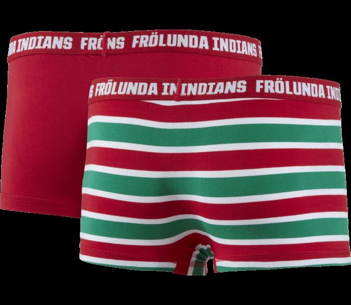 Frölunda Indians Boxershorts 2-pack SR Stripe/red