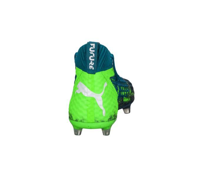 Puma Future 18.1 Netfit FG AG Fotbollsskor Deep Lagoon-Puma White-Green  Gecko 27ff1446a91bd