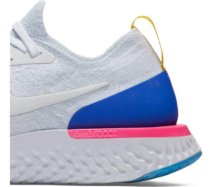 cheap for discount c30b2 ed926 Nike Wmns Epic React Flyknit löparsko - WHITE WHITE-RACER BLUE-PINK BL -  Intersport