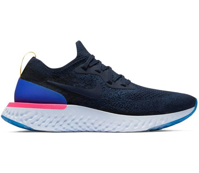 lowest price afa0f 23810 Nike Wmns Epic React Flyknit löparsko COLLEGE NAVY COLLEGE NAVY-RACE