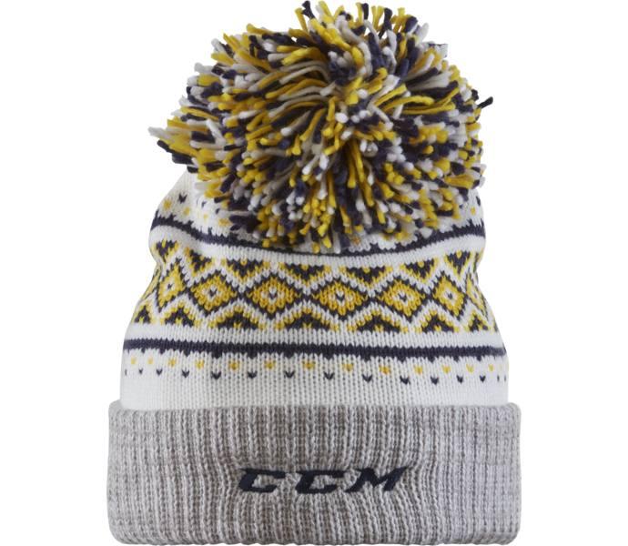 Ccm Hockey Tre Kronor Cuffed Knit M 246 Ssa White Blue