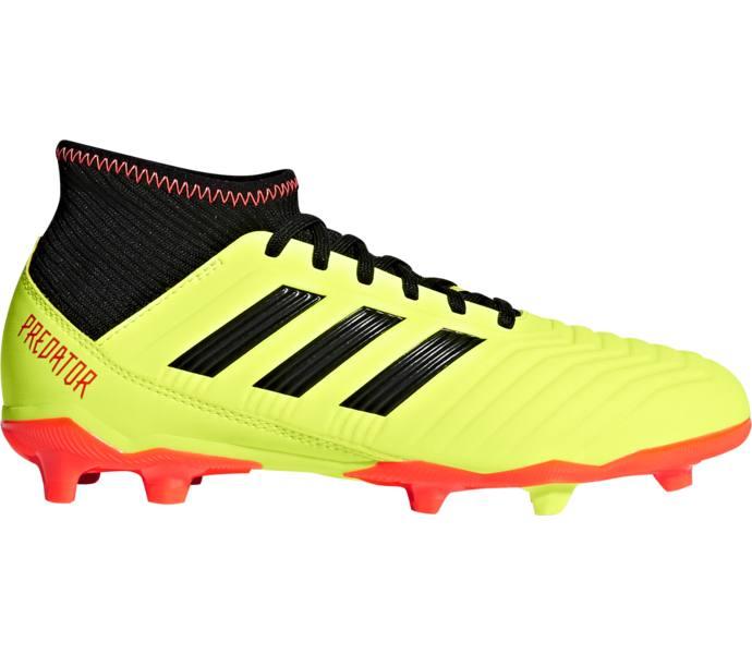 Vanliga skor köper nu fabrikspris adidas Predator 18.3 FG fotbollsskor - SYELLO/CBLACK/SOLRED - Köp ...