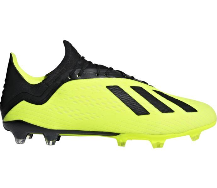bfeb2526b20 adidas X 18.2 FG/AG fotbollsskor - SYELLO/CBLACK/FTWWHT - Köp online ...
