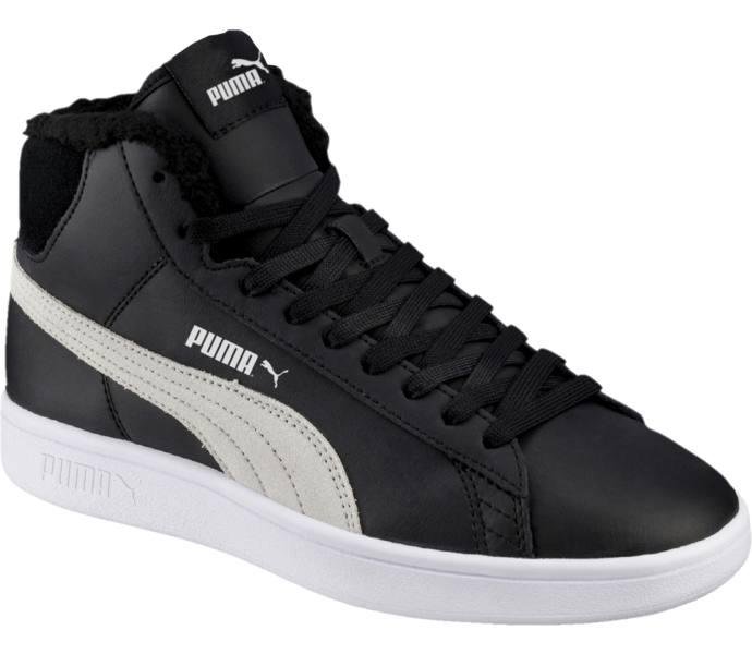 Puma Smash V2 Mid Fur jr sneakers - Puma Black-Puma White - Intersport 296703b718
