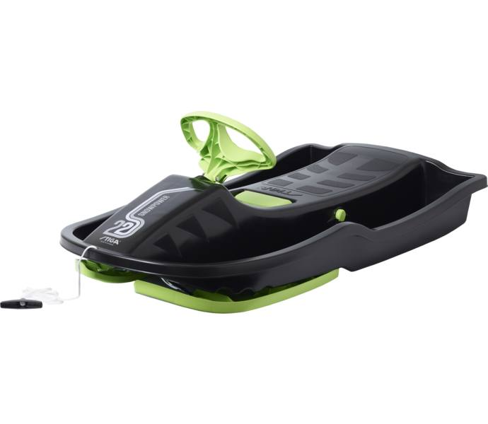 Fantastisk Stiga Snowpower pulka - black/green - Köp online hos Intersport EJ-69