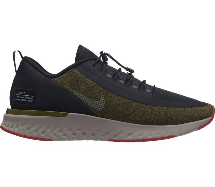 quality design 7aa12 79454 Nike Odyssey React Shield M löparskor OLIVE FLAK METALLIC SILVER-BLA