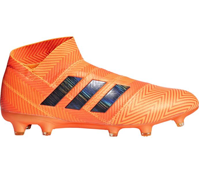 more photos 29ecd f9439 adidas Nemeziz 18+ Firm Ground Fotbollsskor ZEST CBLACK SOLRED