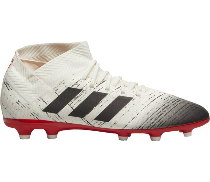brand new 09f97 3a983 adidas Nemeziz 18.3 FG J fotbollsskor OWHITE CBLACK ACTRED