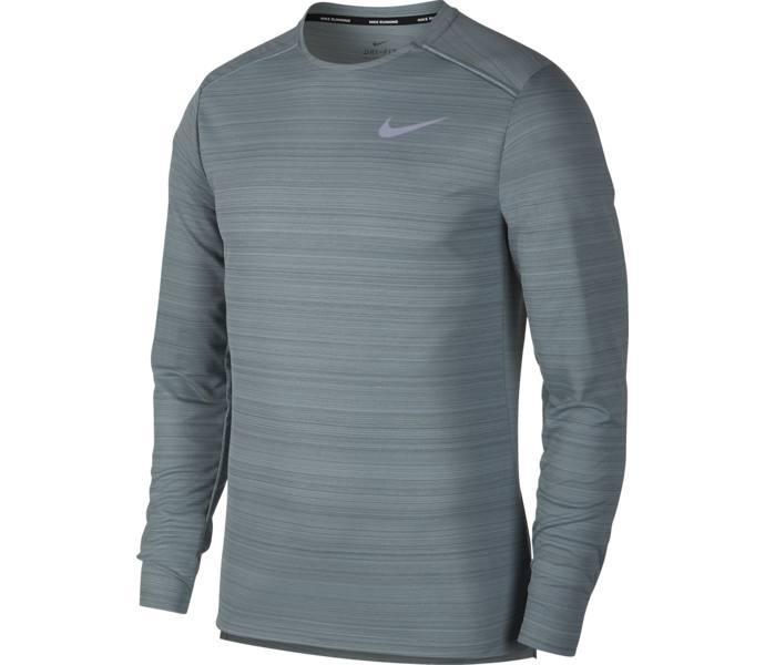 new product d51a5 8d44d Nike Dry Miler LS M funktionströja AVIATOR GREY HTR HASTA REFLECT
