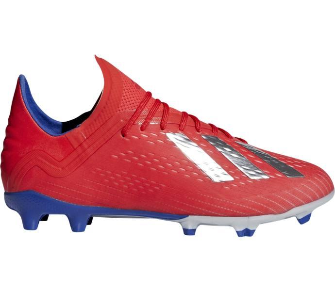 a545ab76687 adidas X 18.1 FG J fotbollsskor - ACTRED/SILVMT/BOBLUE - Intersport