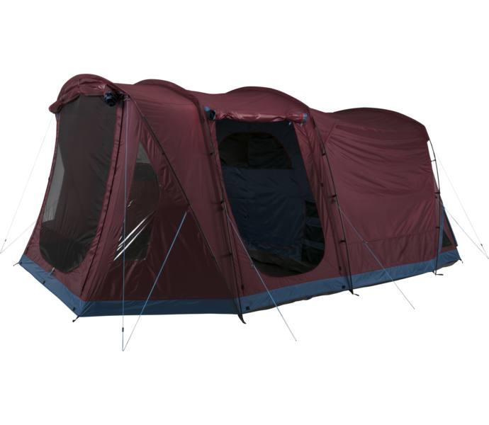 Unika McKinley Family 50.6 tält - RED WINE/BLUE PETROL - Köp online hos HG-15