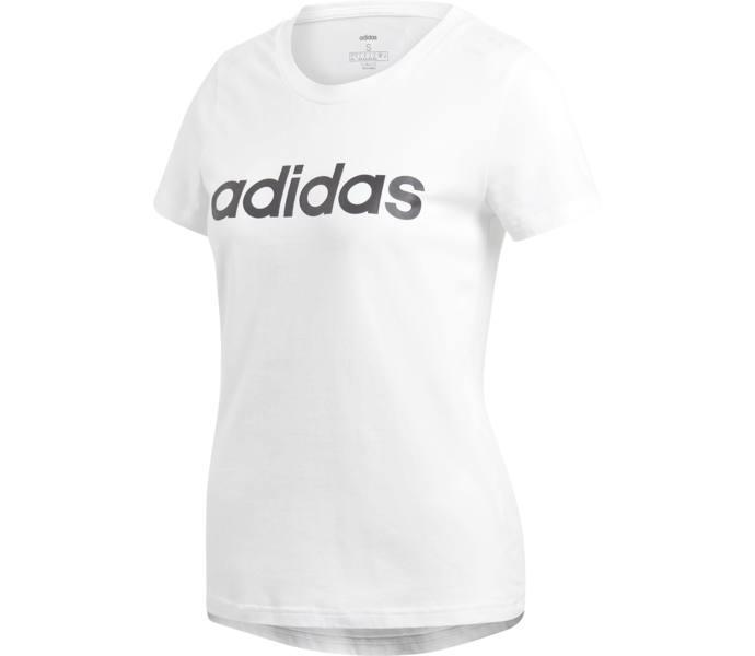 adidas Essential Linear Slim t shirt WHITEBLACK Köp